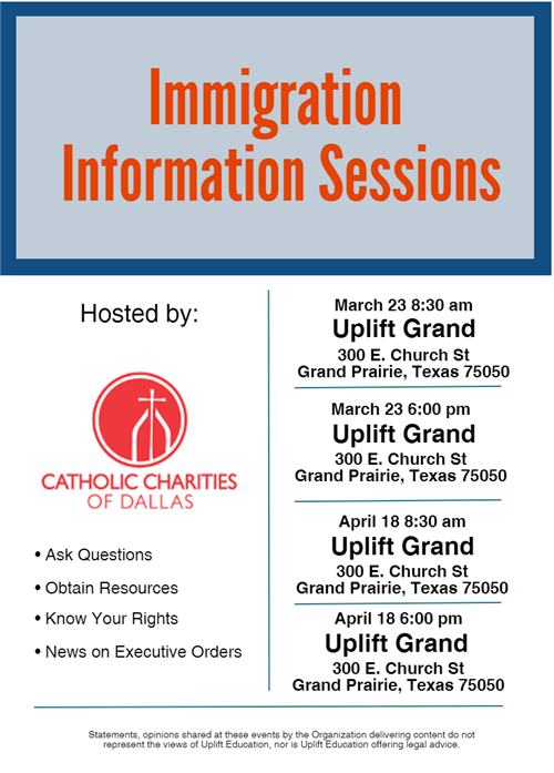 Immigration Information Sessions